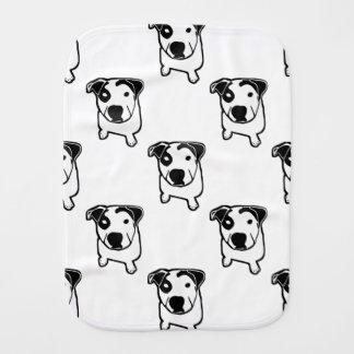 Pit Bull T-Bone Graphic Burp Cloth