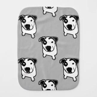 Pit Bull T-Bone Graphic Burp Cloth