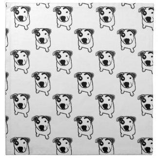 Pit Bull T-Bone Printed Napkins