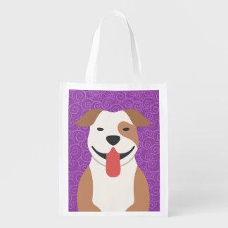 Pit Bull Terrier Resusable Tote Bag
