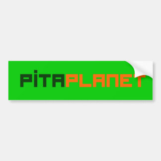 Pita Planet Font (GO) Bumper Sticker