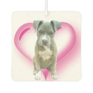 Pitbull dog car air freshener