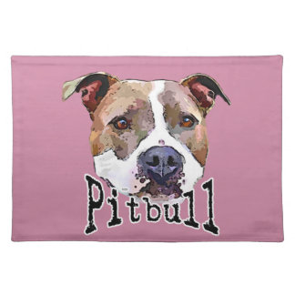 Pitbull dog placemat