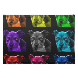 pitbull dog pop art 0785 bb placemat