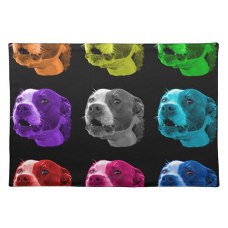 Pitbull dog pop art 7769 BB Placemat