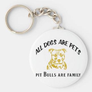 PITBULL FAMILY KEY RING