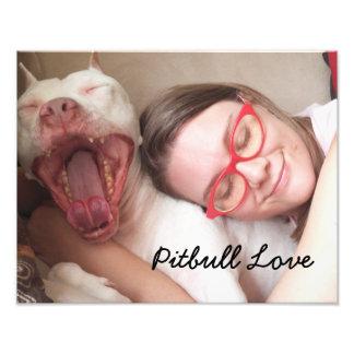 """""""Pitbull Love"""", 14"""" x 11"""" Photo Print"""