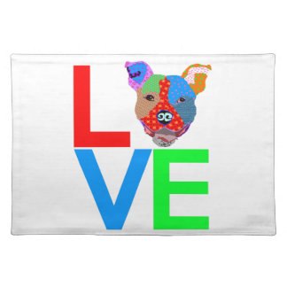Pitbull Love Placemat