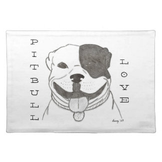 Pitbull Love Placemat