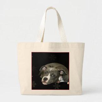 Pitbull Puppy Tote Bag
