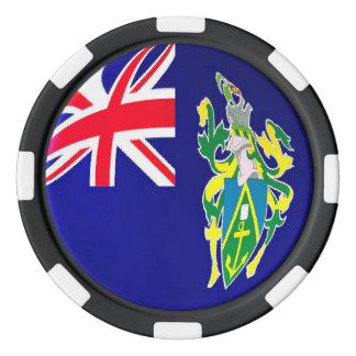 Pitcairn Islands flag Poker Chips