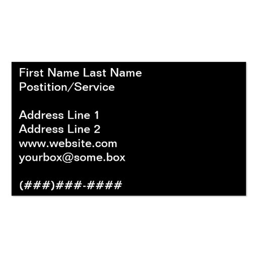 Pitch Black Business Card