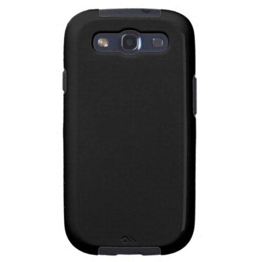 Pitch Black Samsung Galaxy SIII Case