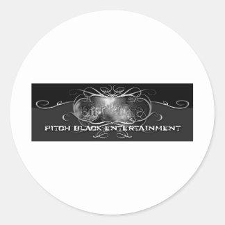 PITCH BLACK ENTERTAINMENT ROUND STICKER