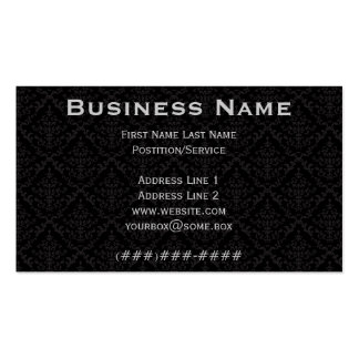 Pitch Black Ornate Business Card Template