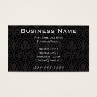 Pitch Black Ornate Business Card