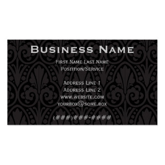 Pitch Black Ornate Pack Of Standard Business Cards