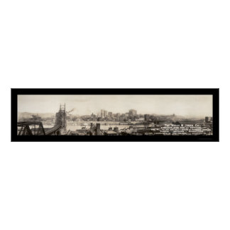 Pittsburgh Iron & Pipe Photo 1906 Poster