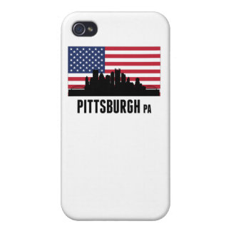 Pittsburgh PA American Flag Cover For iPhone 4
