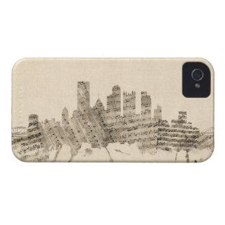 Pittsburgh Pennsylvania Skyline Sheet Music Citysc iPhone 4 Case-Mate Cases