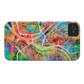 Pittsburgh Pennsylvania Street Map iPhone 4 Case-Mate Cases