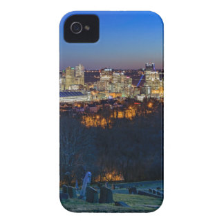 Pittsburgh Skyline at Sunset iPhone 4 Case-Mate Cases