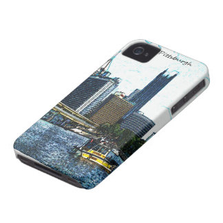 Pittsburgh Skyline iPhone 4 Case-Mate Cases