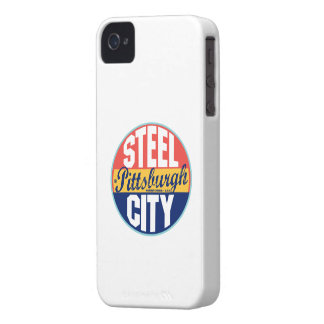 Pittsburgh Vintage Label Case-Mate iPhone 4 Cases
