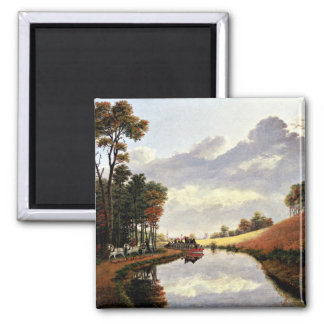 Pittsford on the Erie Canal painting Magnet