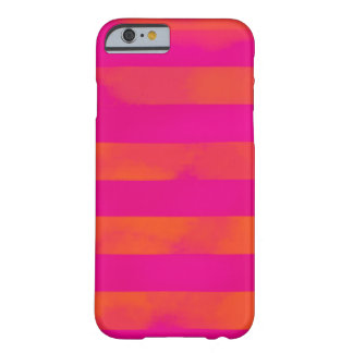 PixDezines adjustable stripes/pink/orange Barely There iPhone 6 Case