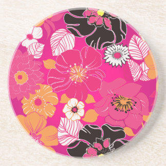 PixDezines Alegre, Mandarin Orange+Hot Pink Drink Coasters
