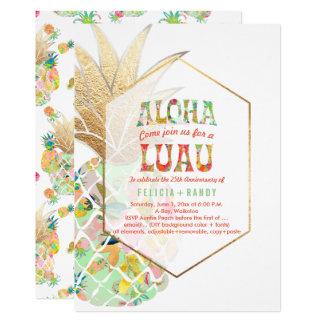 PixDezines Aloha Hawaiian Pineapples/Mint Green Card
