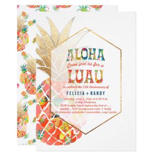 PixDezines Aloha Hawaiian Pineapples/Orange/DIY Card