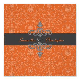 PixDezines Arianna Damask, diy color, Orange Spice Card