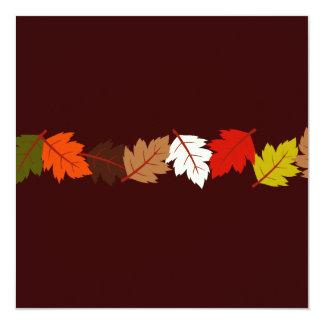 PixDezines autumn leaves/diy events+background 13 Cm X 13 Cm Square Invitation Card