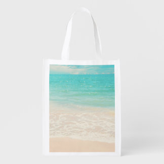 PixDezines beach Reusable Grocery Bag