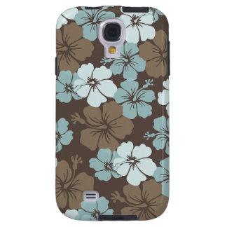PixDezines blue hibiscus/diy background Galaxy S4 Case