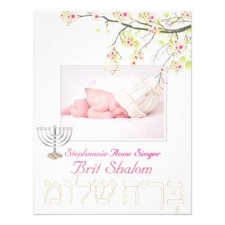 PixDezines brit shalom/cherry blossoms/diy color Personalized Invitation