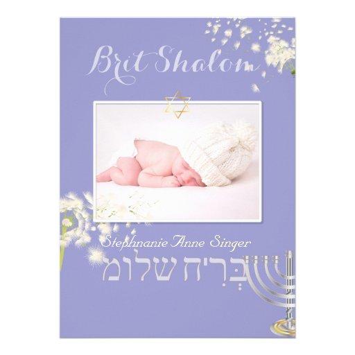 PixDezines brit shalom/dandelions/diy color Custom Invite
