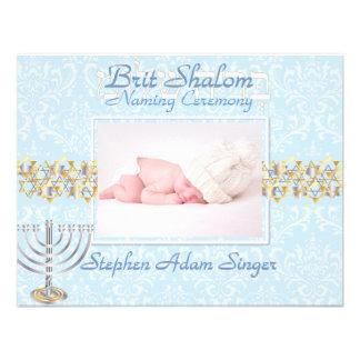 PixDezines brit shalom/photo frame+stars/diy color Custom Invitations