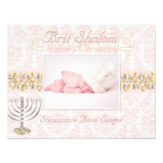 PixDezines brit shalom/photo frame+stars/diy color Personalized Invite
