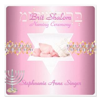 PixDezines brit shalom/photo frame+stars Custom Invitations