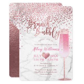 PixDezines Brunch N Bubbly/Rose Gold/Confetti Card