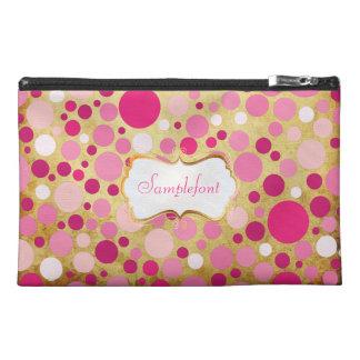 PixDezines bubble gum/pink/diy text Travel Accessory Bag