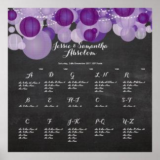 PixDezines chalkboard+lanterns/seating chart Poster