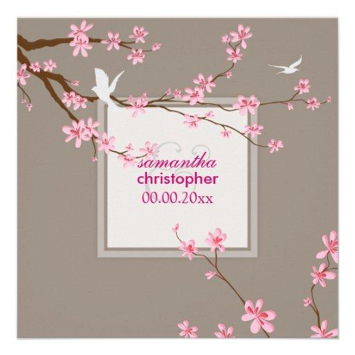 PixDezines Cherry blossom/diy background Invitations