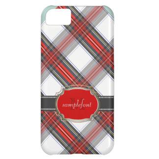 PixDezines clan stewart tartan/red+grey iPhone 5C Case
