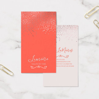 PixDezines Dazzled Faux Rose Gold/DIY Background Business Card