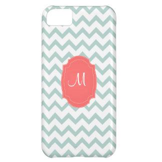 PixDezines diy background color/white chevron iPhone 5C Case