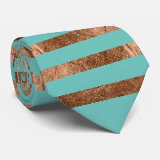 PixDezines diy color/faux copper foil/turquoise Tie